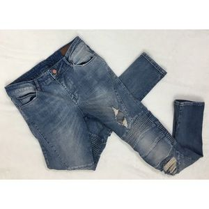 ASOS Mid Rise Moto Skinny Jeans Women's Size 32